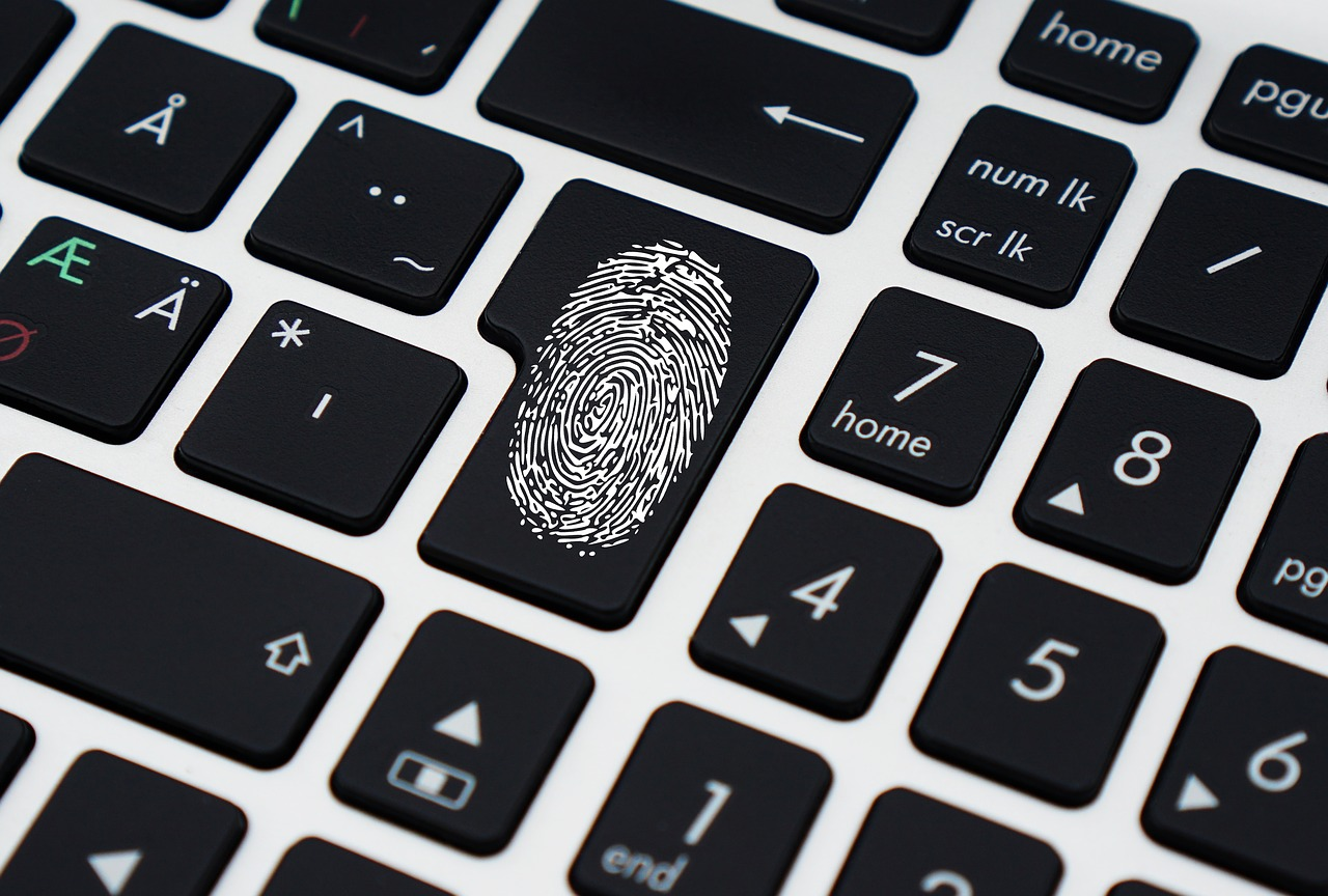Fingerprint over a keyboard