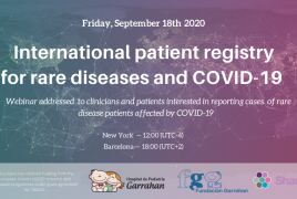 Webinar patient registry for rare diseases and COVID-19
