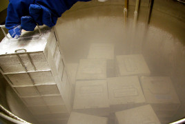 Frozen samples at a biobank